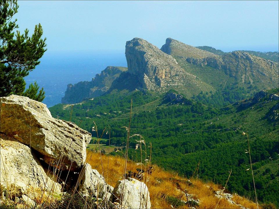 Przylądka Formentor, Góry, Krajobraz Górski, Wybrzeżu