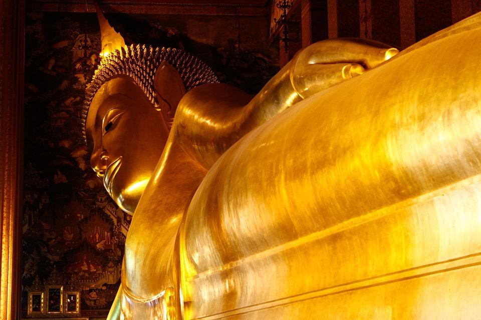仏, ゴールデン, 寺, ワットポー, バンコク, ター, タイ, ワット