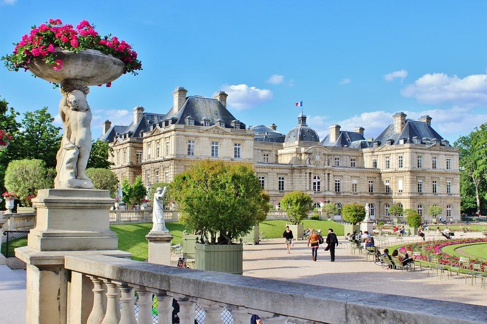 Luxembourg gardens in Paris in October