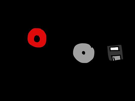 レコードが, Cd, フロッピー ディスク, メモリ, メディア, 媒体