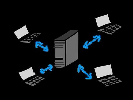 Client, Server, Networking, Laptop
