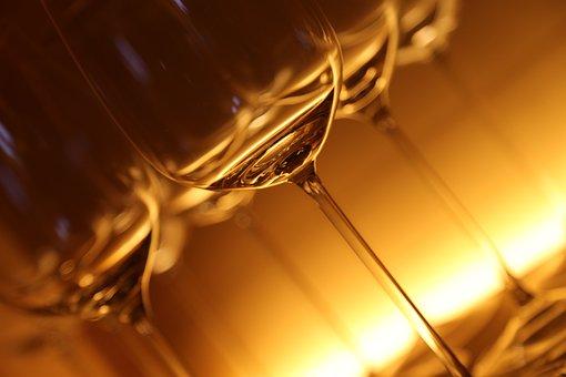 Glazen Glas Drinken Lichtspiel Verlicht Wi