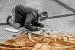 man, artist, street