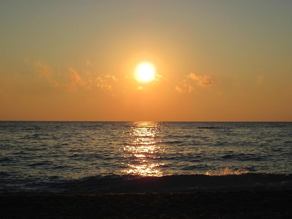 Puesta De Sol Paisaje Mar · Foto Gratis En Pixabay