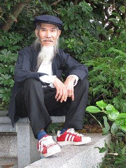 Chinese Essay, Beard, China, Old
