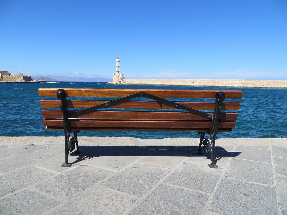 Panchina Lungomare : Panchina mare creta · foto gratis su pixabay