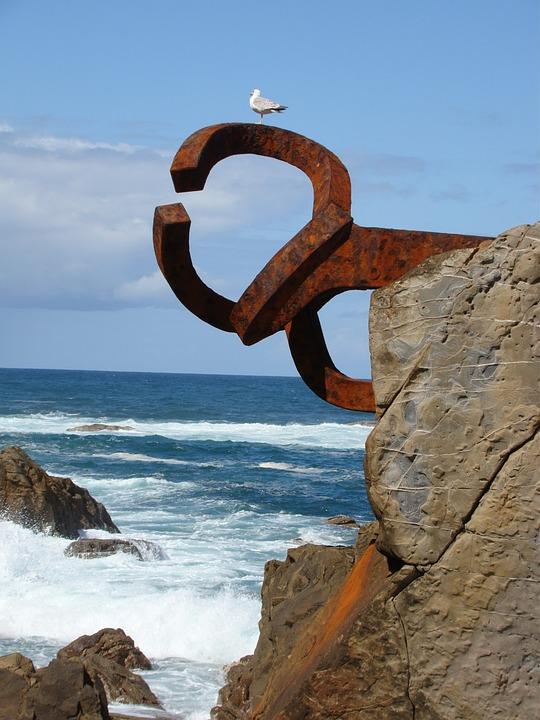 foto gratis: san sebastián, peine del viento - imagen gratis en