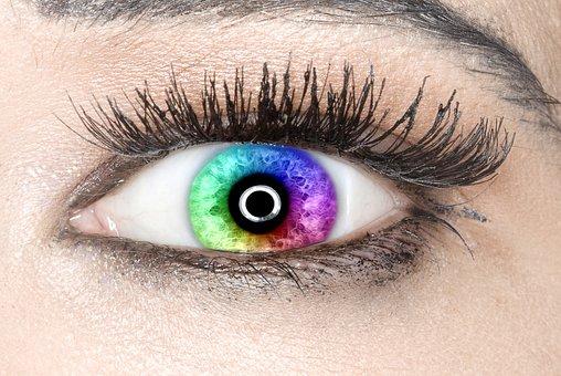 Eye, Iris, Rainbow Colors, Beautiful
