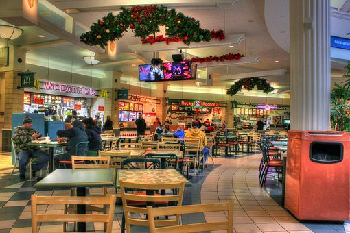 Dining Court, Shopping Mall, Corridor