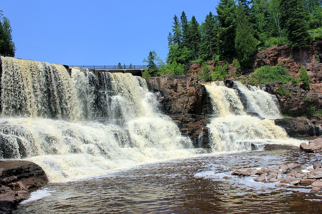 gooseberry falls waterfalls usa  u00b7 free photo on pixabay