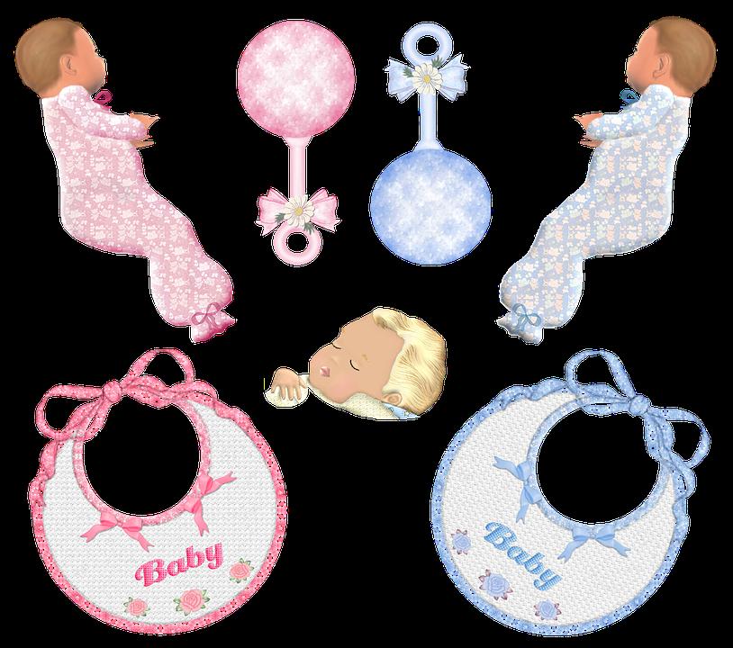 赤ちゃん, 幼児, 誕生, 新生児, ベビー シャワー, 少年, 女の子, ピンク, 青, ガラガラ
