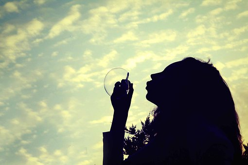 Girl Bubble Daydream Sky Cloud Clouds Dayd