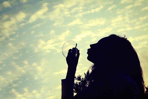 Girl Bubble Daydream Sky Cloud Clouds Dayd