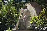 angel, cemetery, park