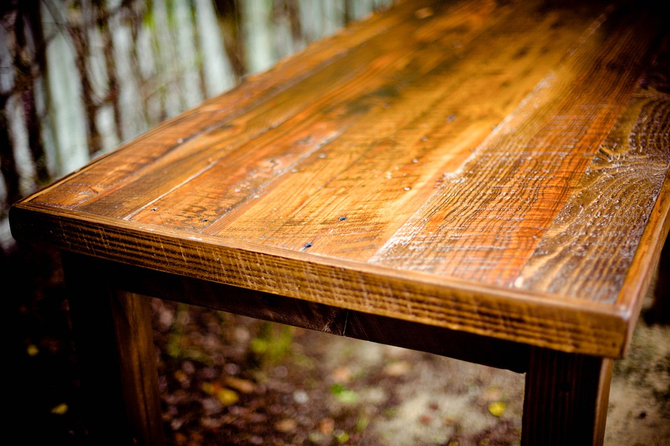 Free photo table rustic wooden wood free image on - Table rustique chene ...