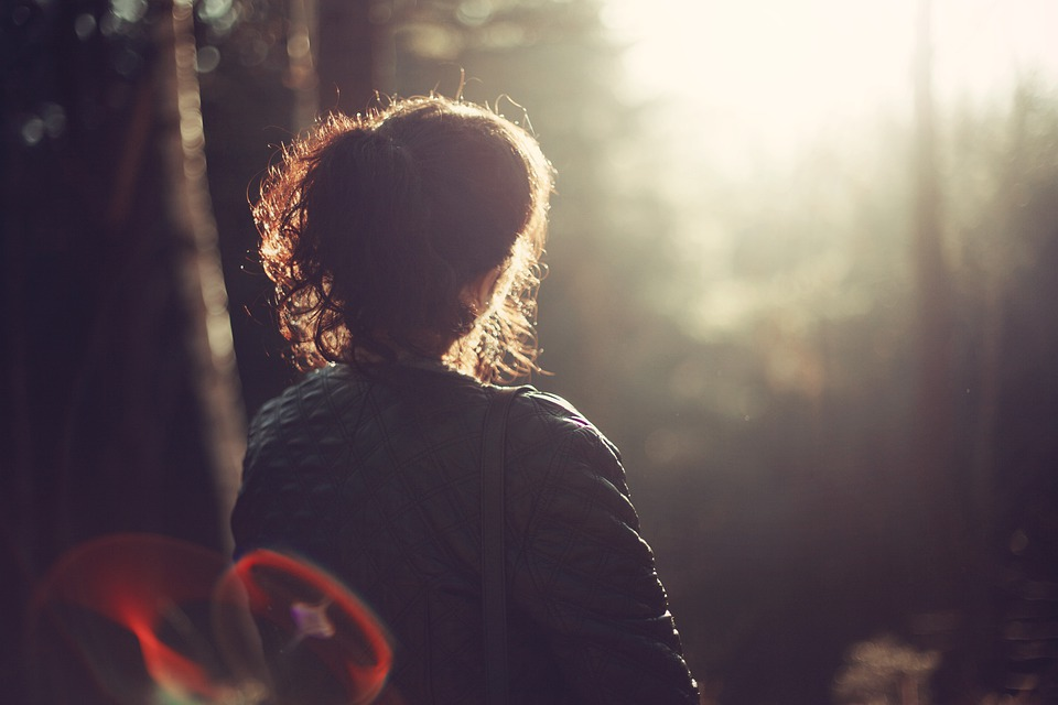 Peace Of Mind, Woman, Girl, Outdoors, Forest, Alone