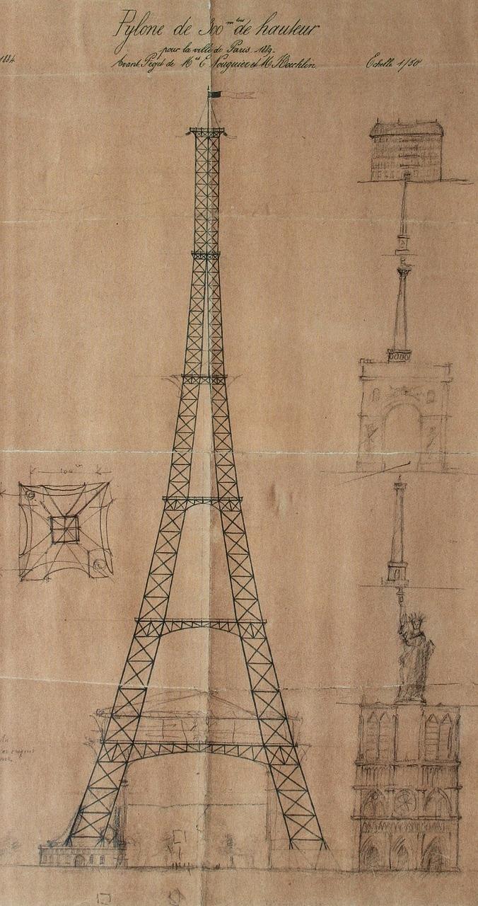 Эйфелева башня в чертежах