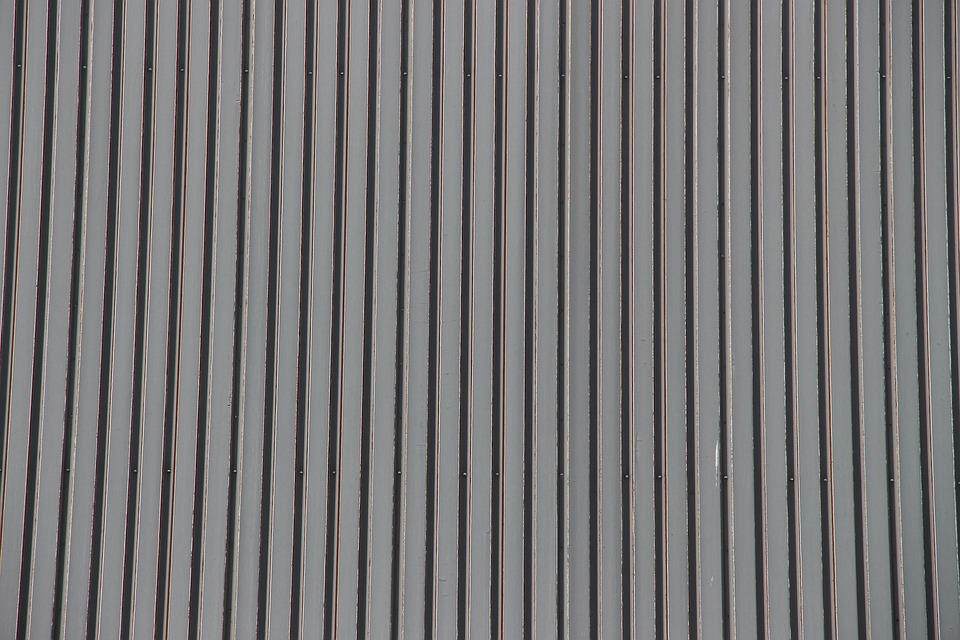 Kostenloses Foto Wellblech Fassade Blech Textur