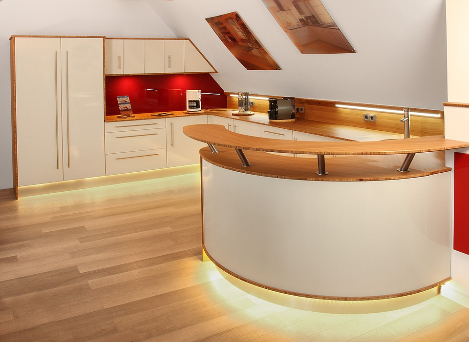 Kitchen, Modern, Illuminated, Kitchen Counter