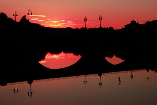 Qué ver qué hacer en Logroño, Atardecer Puente de piedra Logroño