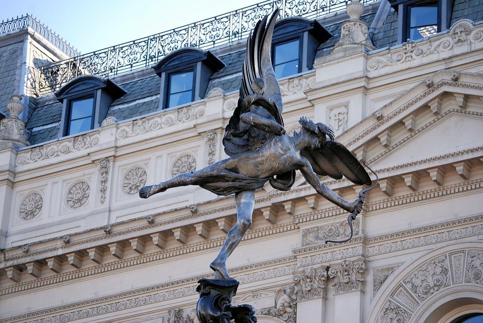 Eros, Statua, Piccadilly Circus, Anteros, Monumento