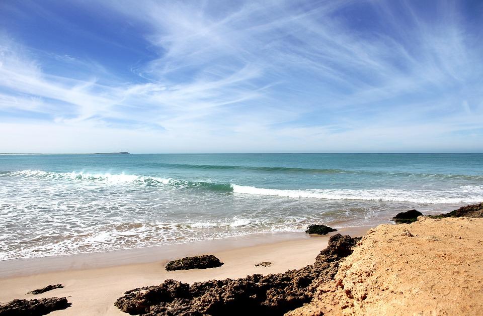 Пляж, Атлантический, Пляж Марокко, Море, Побережье