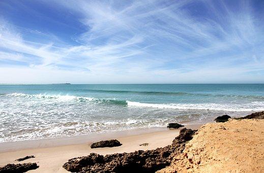 Beach, Atlantic, Beach Morocco, Sea