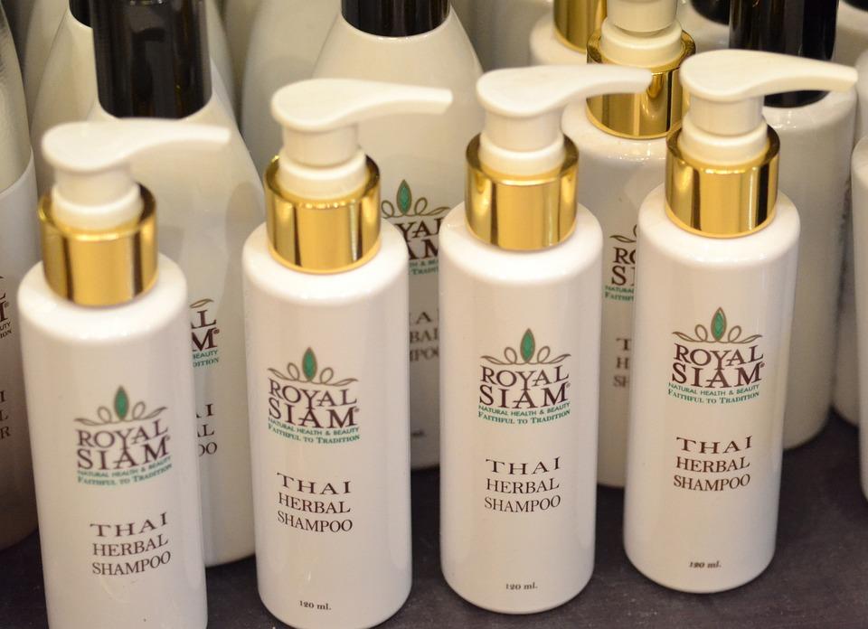 Bottles of shampoo