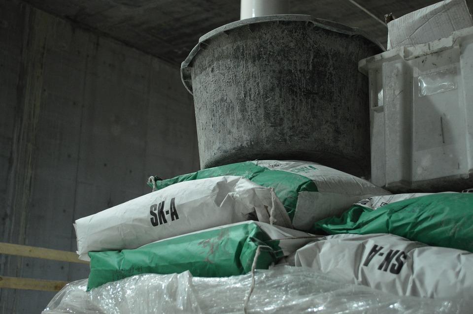 Cement, Concrete, Bucket, Construction Detail, Lower