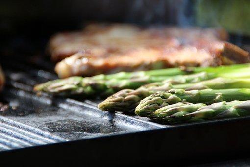 Asparagus, Green Asparagus, Steak