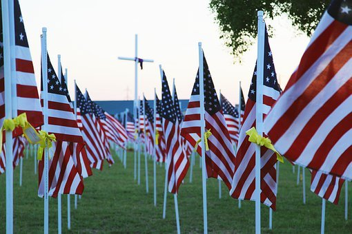 Memorial Day, Flag, Usa, America