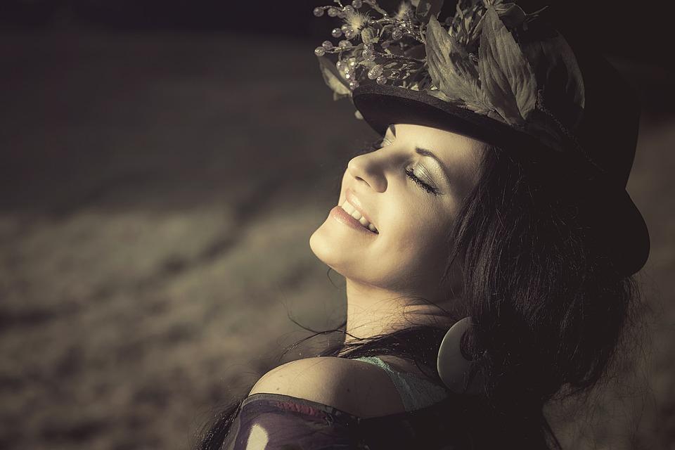 Beauté, Femme, Chapeau Fleuri, Pac, Cosmétiques, Luck, estime de soi, complexes