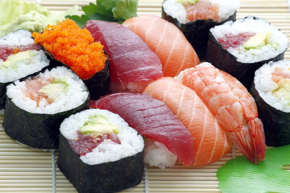 Sushi, Japanese, Asian, Food, Raw, Sashimi, Fresh, Roll