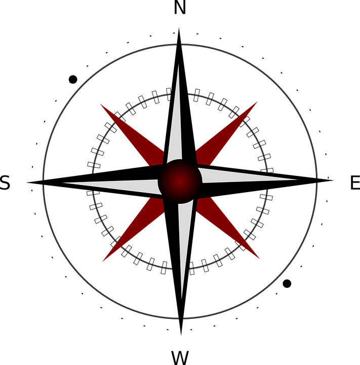 compass east south free vector graphic on pixabay