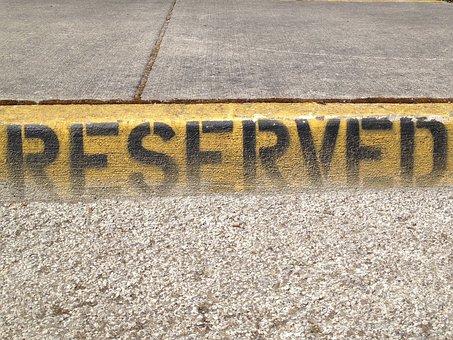 予約, 駐車場, 記号, 標識
