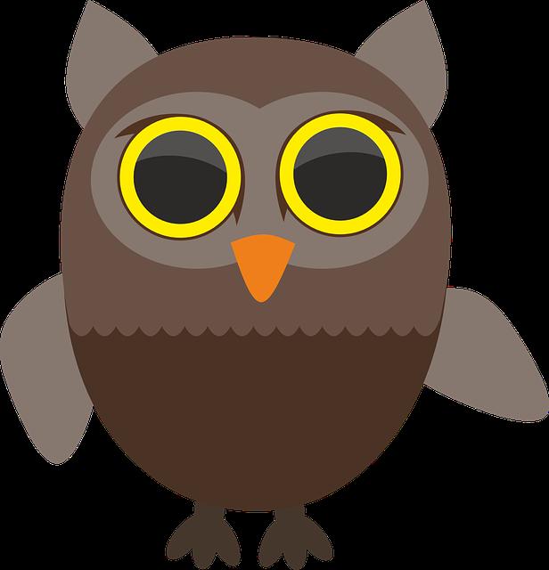 darmo grafika wektorowa sowa  sowy  ptak  dziki  ptactwo owl clip art free owl clip art template