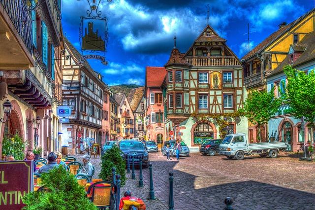 Foto gratis kaysersberg alsace francia immagine for Foto di ville colorate