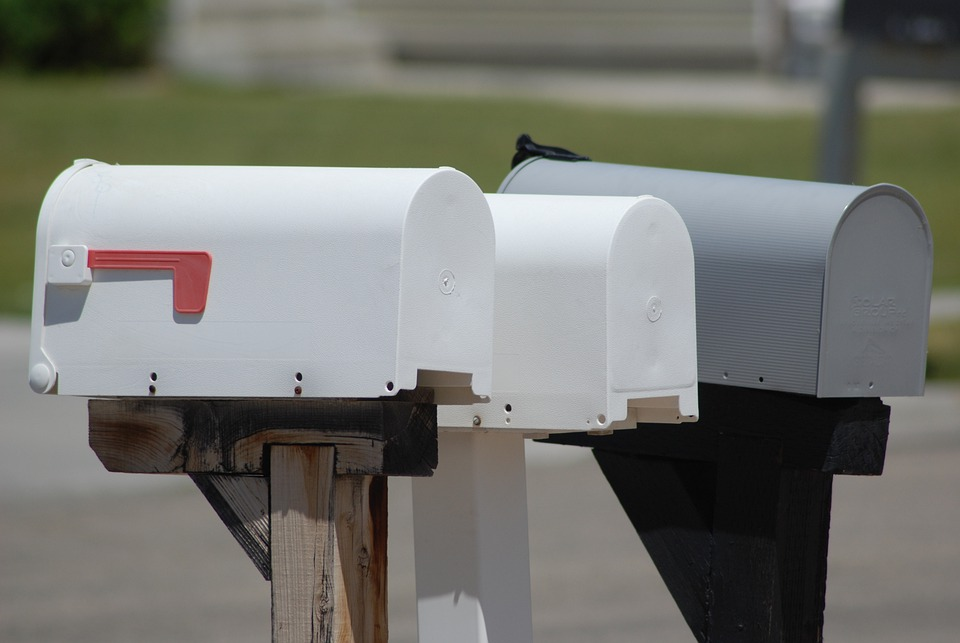 Mailbox, Letter, Postbox, Post, Gray Email, Gray Letter
