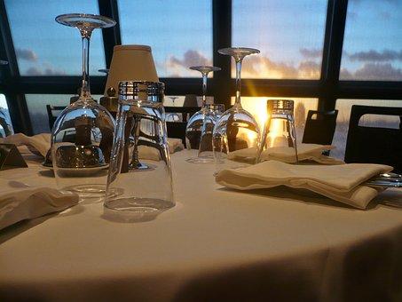 レストラン, メガネ, ドリンク, Lichtspiel, ワイングラス, 透明