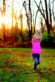 Dance, Girl, Outside, Smile, Cute, Happy