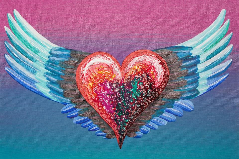 Herz Flugel Liebe Kostenloses Bild Auf Pixabay
