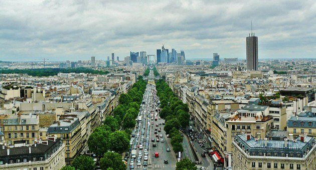 Paris, City View, La Defense, Boulevard