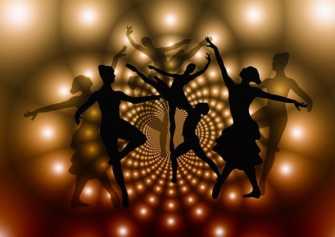 Ballet, Bailarines, Mujer, Siluetas
