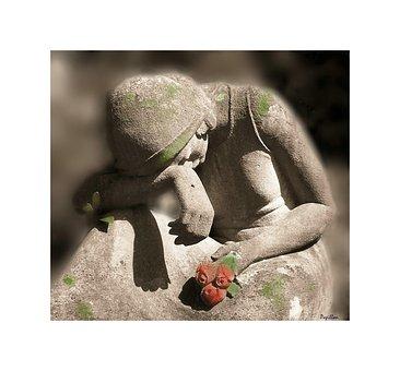Luto, Mujer, Escultura
