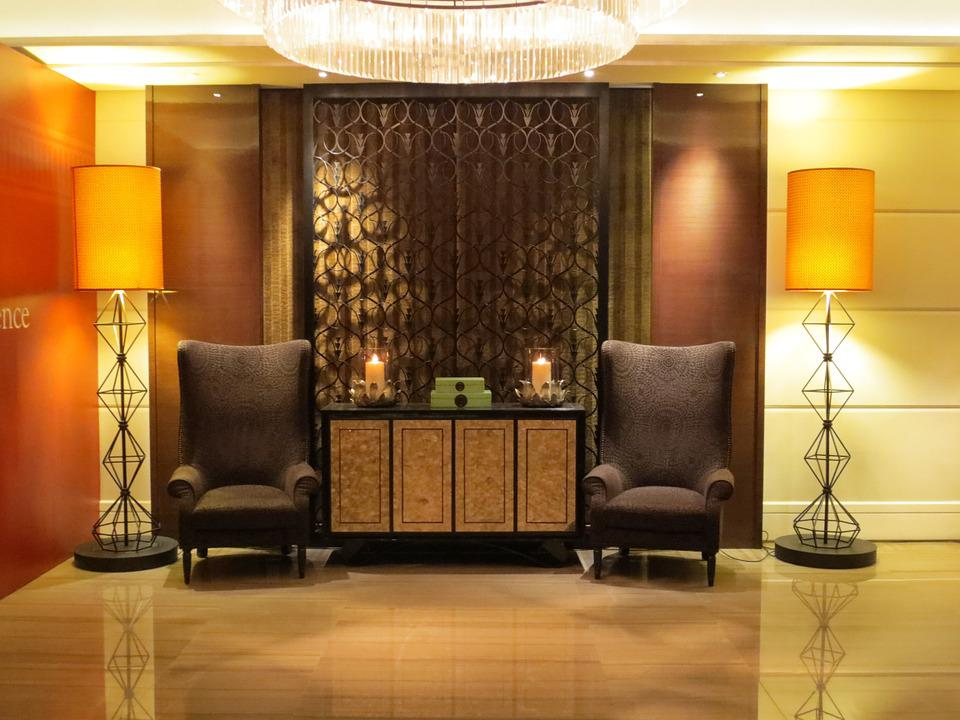 Free photo hotel lobby interior design decor free for Hotel interior decor
