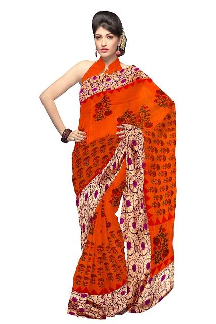 Free Photo Saree Fashion Silk Dress Woman Free
