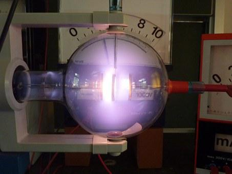 Física, luz, triodo, hélio