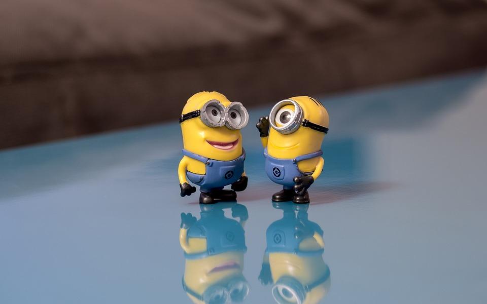 手先, 話, 笑顔, 会話, 幸せ, 通信, かわいい, 卑劣な私, 壁紙, 黄色