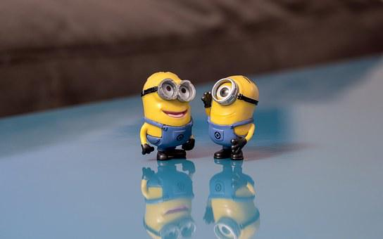 Minions, Talking, Smile, Conversation