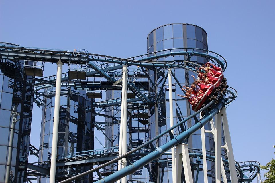 Roller Coaster, Ride, Action, Leisure, Theme Park, Fun